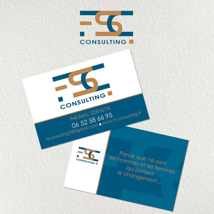 Logo Carte De Visite Et Flyer FS Consulting