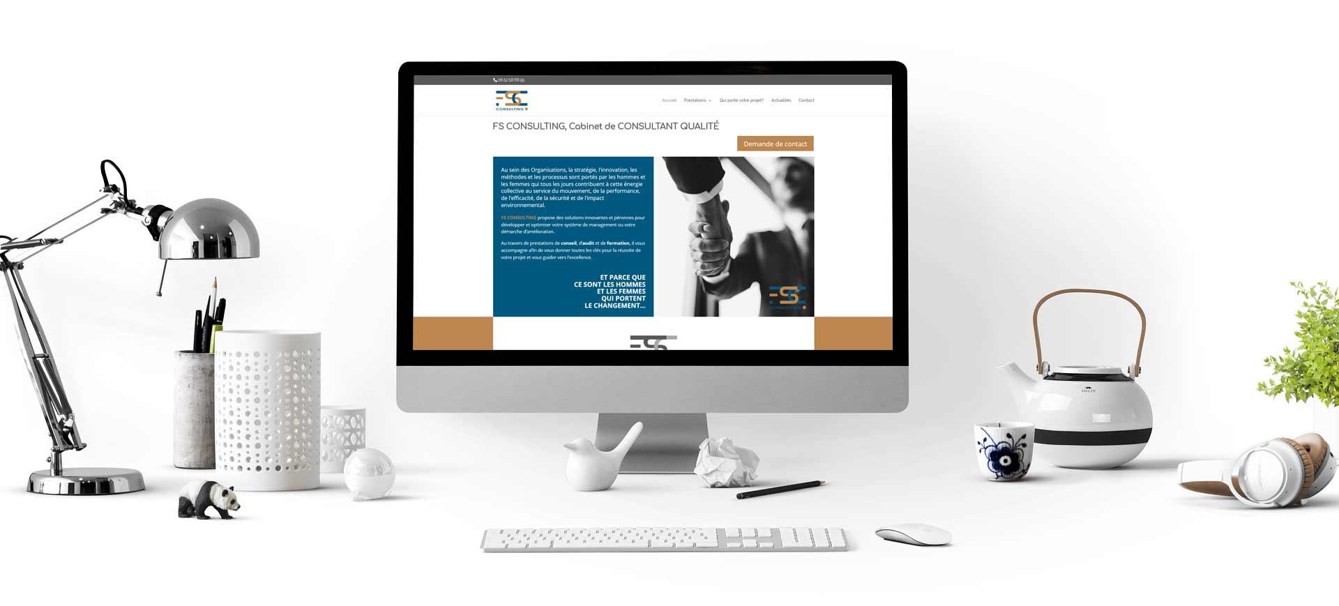 Site internet FS Consulting - Ma Boite Fait sa Pub
