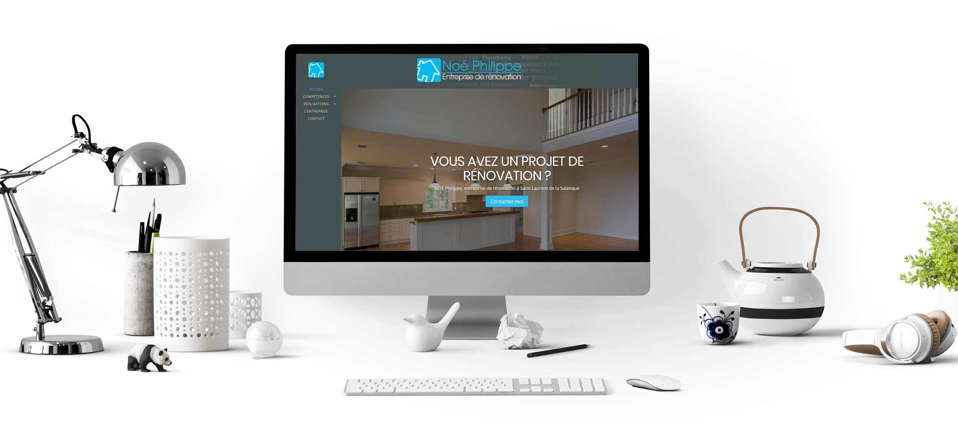 Site internet entreprise de rénovation