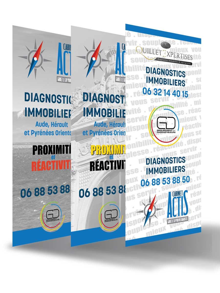 PLV panneaux Actis Diagnostic Immobilier
