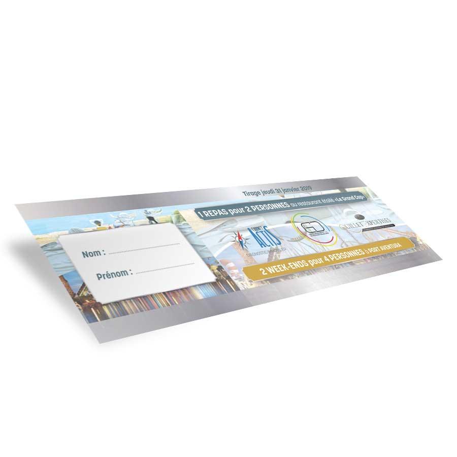 Création de ticket de tombola Actis Diagnostic Immobilier Narbonne