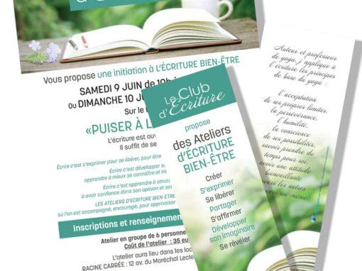 Flyer & Marque-page Le Club d'Écriture