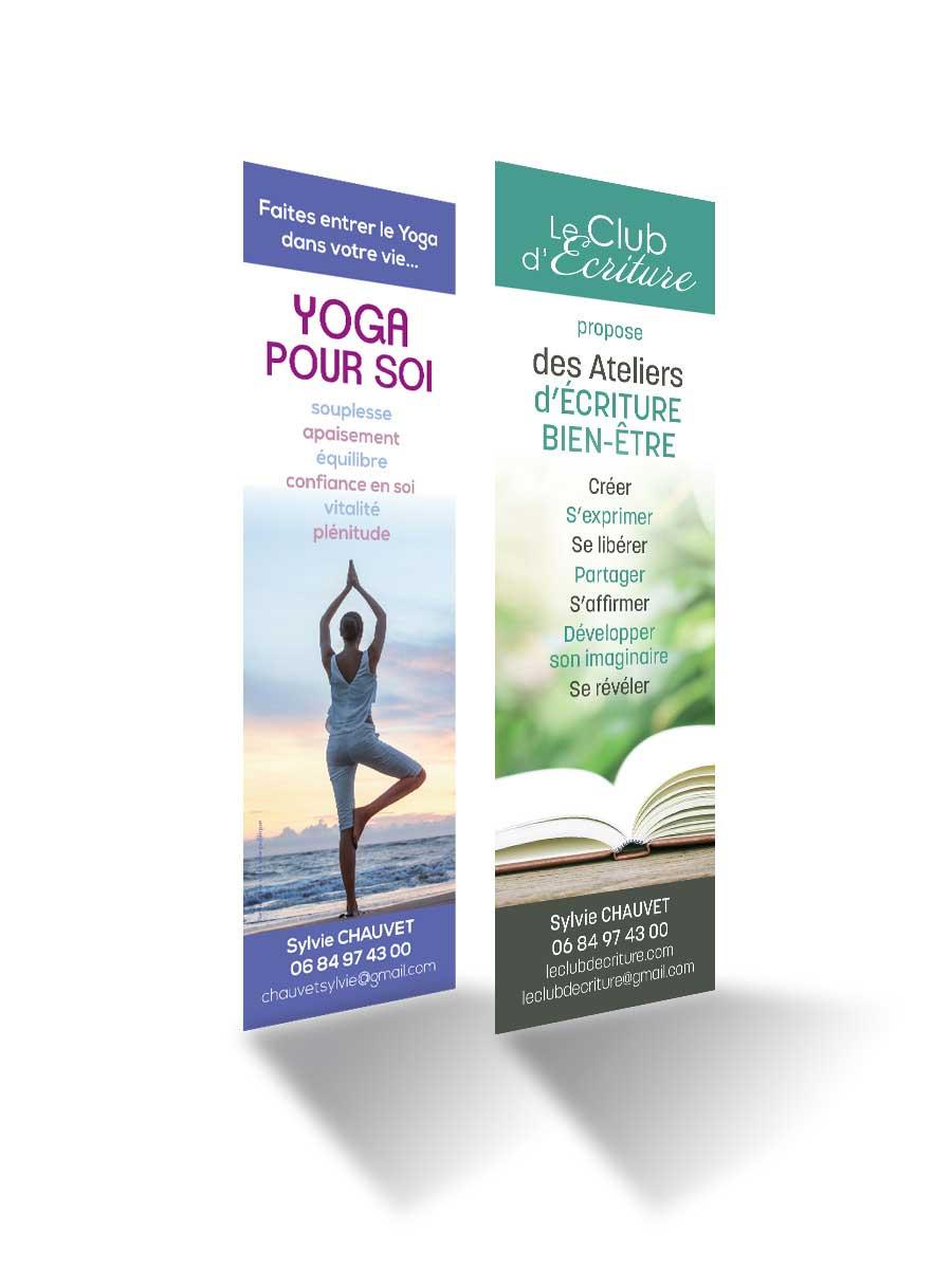 Marque page pour Sylvie Chauvet Le Club d'Écriture et Yoga pour Soi